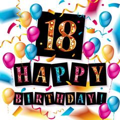 Happy birthday 18 years anniversary