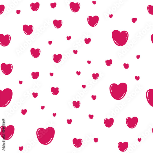 seamless pattern with hearts 3d effect simple pattern with pink