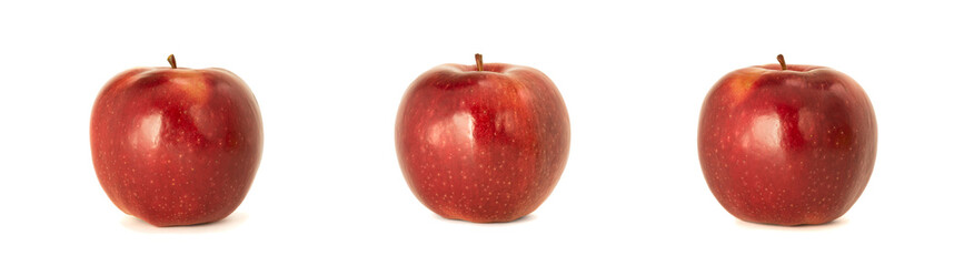 Variety of ripe red apples Ligol isolate white background. Procurement under inscription and...