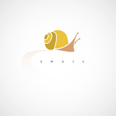 Snail. Design vector illustration. Isolated on white background.