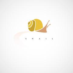Snail. Design vector illustration. Isolated on white background.