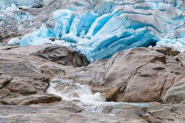 Blue Ice of the Nigardsbreen Glacier