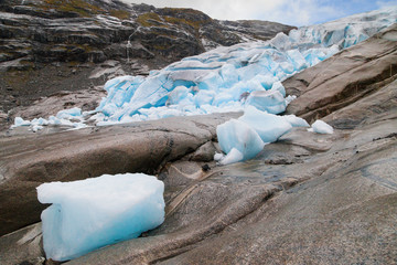 Ice Front of the Nigardsbreen Glacier
