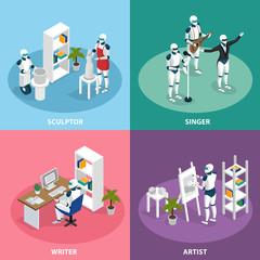 Creative Robots Isometric Concept