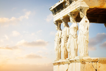 Fototapete - Erechtheion temple in Acropolis of Athens