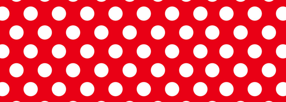 Red and White Dot Background