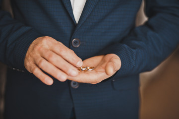A large photo of male hands with wedding rings 793.