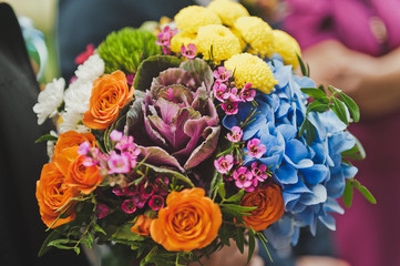 A large photo of a colorful bright bouquet of flowers 796.
