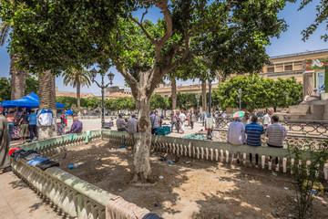 Ain Temouchent - June 02, 2017: Central market of Ain Temouchent, Algeria