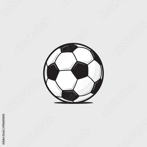Football Soccer Ball Detailed Icon Vector Illustration Stock Image