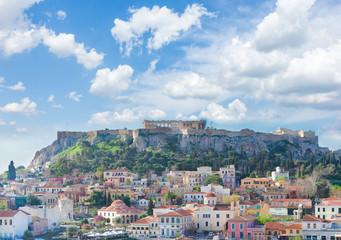 Keuken foto achterwand Athene Skyline of Athenth with Acropolis hill