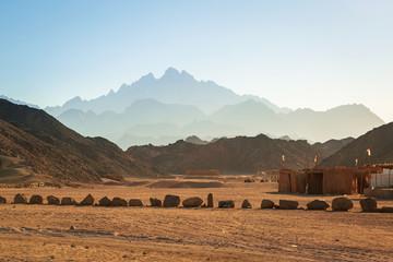 Scenery of the african desert in Egypt