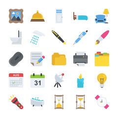 Flat Icons Objects