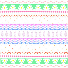 Seamless geometric pattern in aztec style. Vector illustration