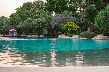 Swimming pool in the village.