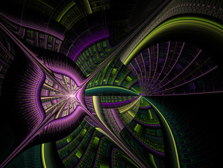 Consists of fantastic shapes and lines. Full-color illustration for your design.
