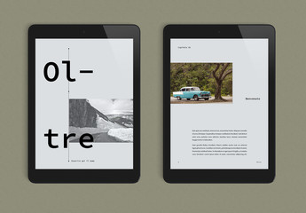 Layout e-book bello e rilassante