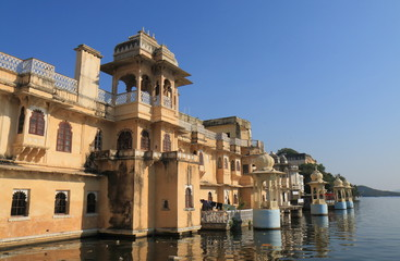 Historical lakeside architecture cityscape Udaipur India
