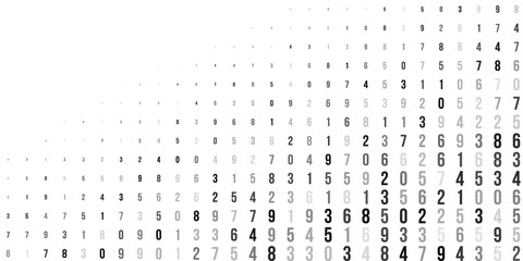 Abstract halftone texture with numbers.