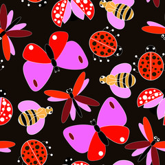 colorful flying insect pattern
