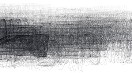 Abstract black-and-white shaded background. Vector graphic pattern of thin lines