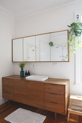 Custom cabinetry in modern bathroom in Australia