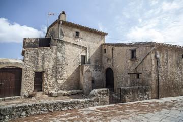Rural construction house in village of Castllet, Castellet i la Gornal,Penedes region,Catalonia.