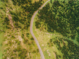 Aerial pictures from pyrenees of Andorra