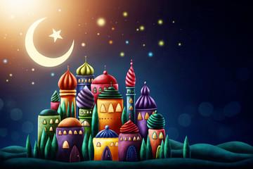 Illustration of arabic mosque