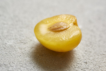 Yellow Plum in Closeup
