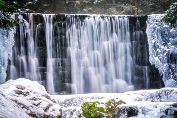 Wall Murals Waterfalls Wild waterfall in winter