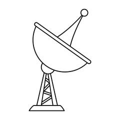 Telecommunication antenna symbol vector illustration graphic design