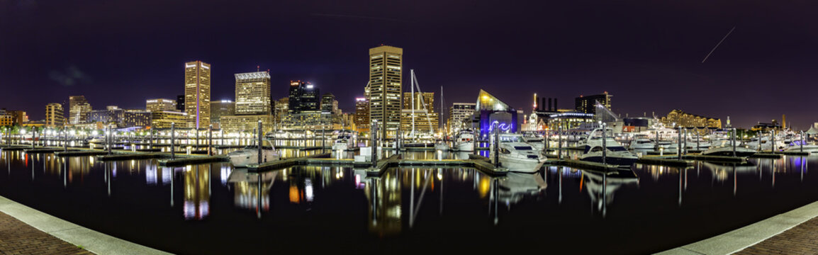 Baltimore Skyline panorama