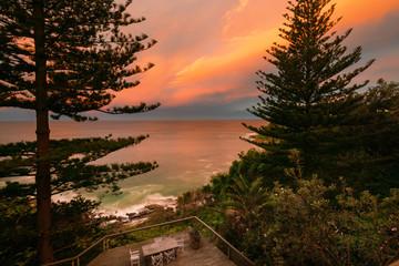glowing orange skies in Sydney, Northern Beaches