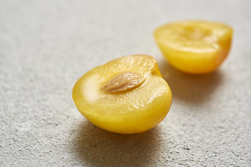 Yellow Plum in Closeup