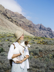 Woman with lovely dog