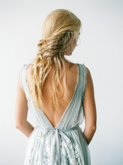 Woman in beautiful elegant dress