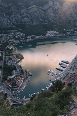 Beautiful Kotor bay in Montenegro