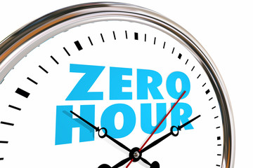 Zero Hour Clock Moment of Truth Time 3d Illustration