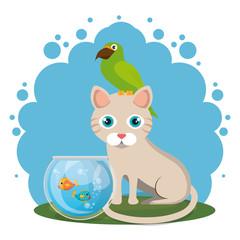cute mascots pet shop icons