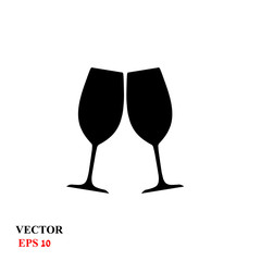 two glasses. vector illustration