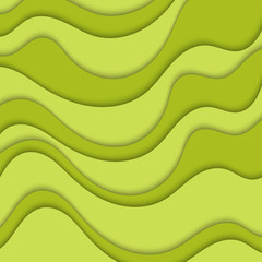 Abstract green background with waves. Abstract wavy background.