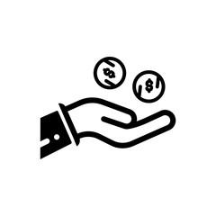 lend money outlined vector icon, lending money outlined symbol. Simple, modern flat vector illustration for mobile app, website or desktop app