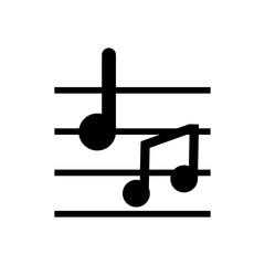 musical notes outlined vector icon, outlined symbol of music elements. Simple, modern flat vector illustration for mobile app, website or desktop app