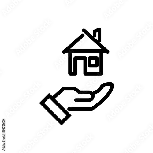 House Rent Outlined Vector Icon Outlined Symbol Of Apartment Rental
