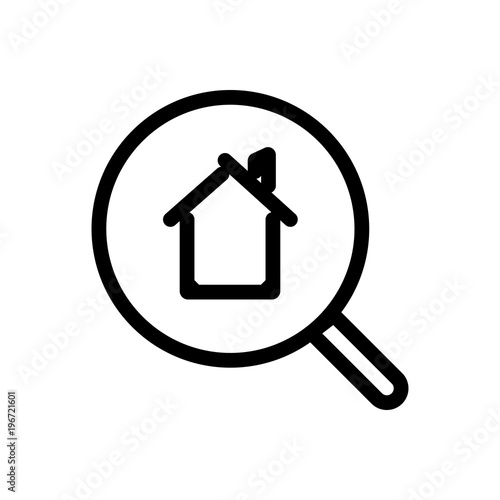 Search Real Estate Outlined Vector Icon Outlined Symbol Of Search