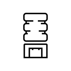 cooler outlined vector icon.