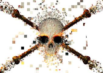 Dispersed skull
