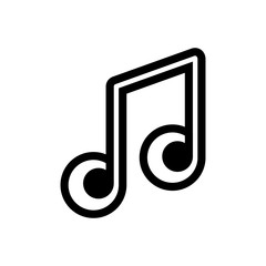 musical notes outlined vector icon