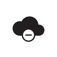 hide cloud filled vector icon